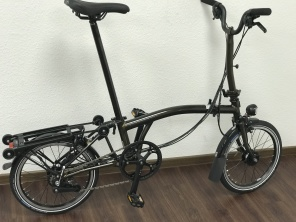 Brompton Black Edition M6RD in Black Raw Laquer