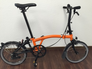 Brompton Black Edition S6L orange