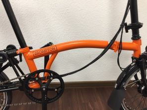 Brompton Black Edition S6LD Orange