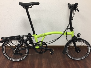 Brompton Black Edition 2017 S6RD Lime Green