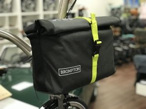 Brompton Roll Top Bag schwarz/Grau/Lime