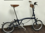Brompton H6L Tempest Blue inkl. Brooks Honey Zubehör