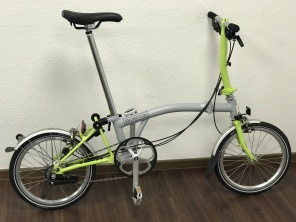 Brompton S6L New Grey/ Lime Green