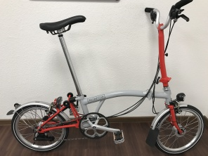 Brompton H6LD 2017 New Grey / New Red