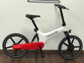 Gocycle GS weiß rot Messemodell